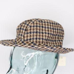 f2897533cd5 Vintage 80s New Totes Tweed Fedora Medium Beige